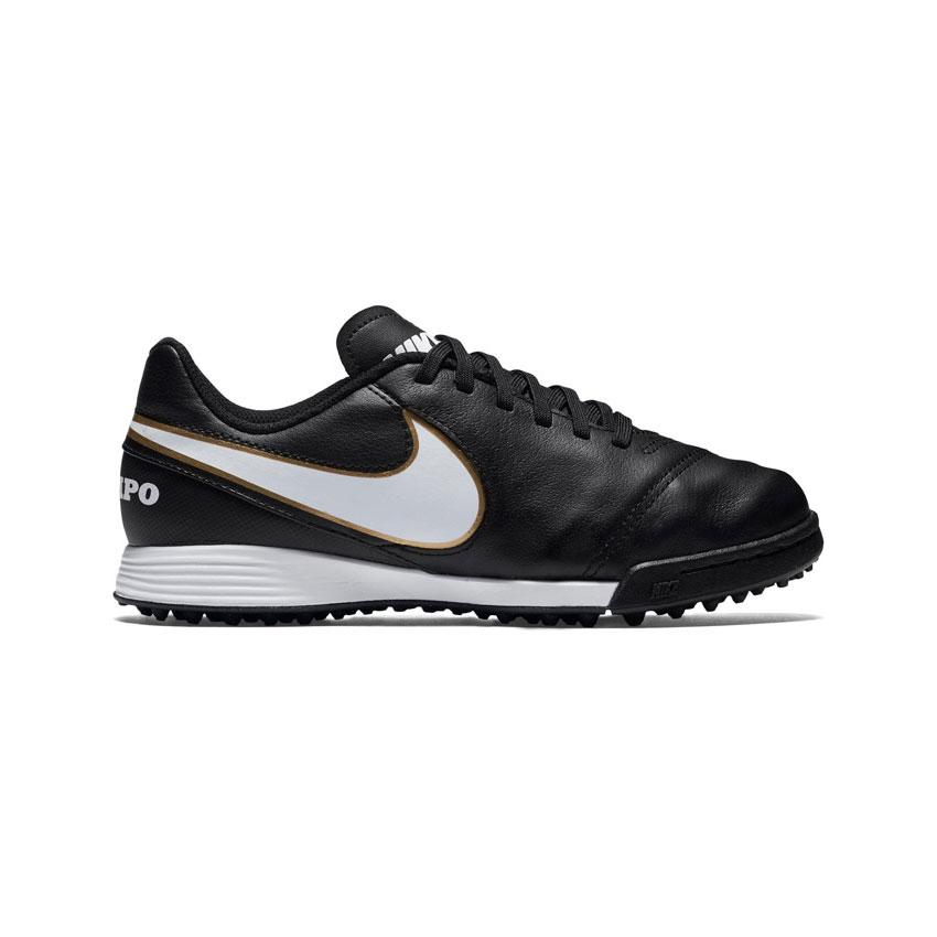 bed10d8ad Nike Junior Tiempo Legend VI Turf TF Football Boots Black | Kids ...