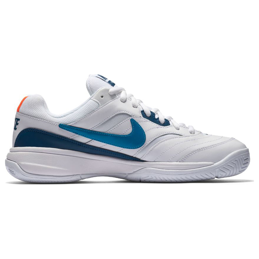 more photos 741bc b962c Nike Mens Court Lite Tennis Shoe White Turquoise