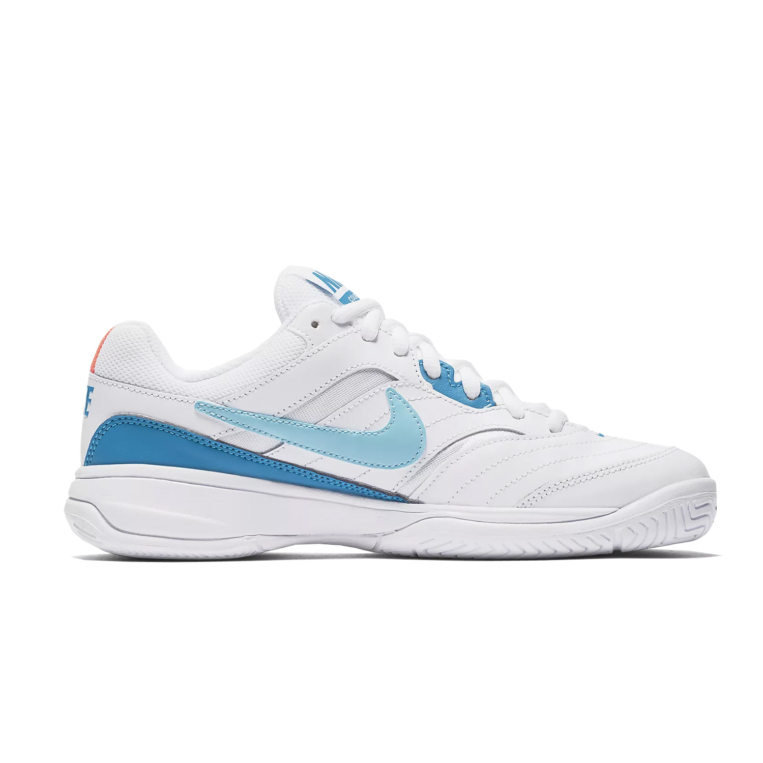 free shipping b2351 adabd Nike Womens Court Lite Tennis Shoe White Turquoise