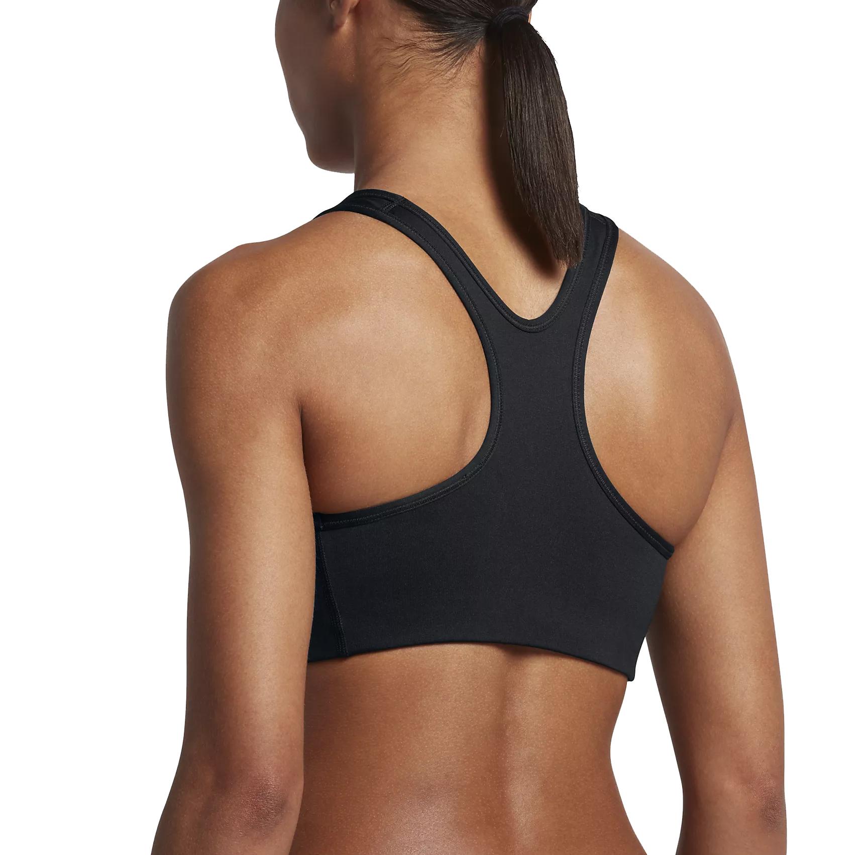meet 6c52e f5707 Nike Women s Classic Swoosh Futura Medium Support Sports Bra- Black