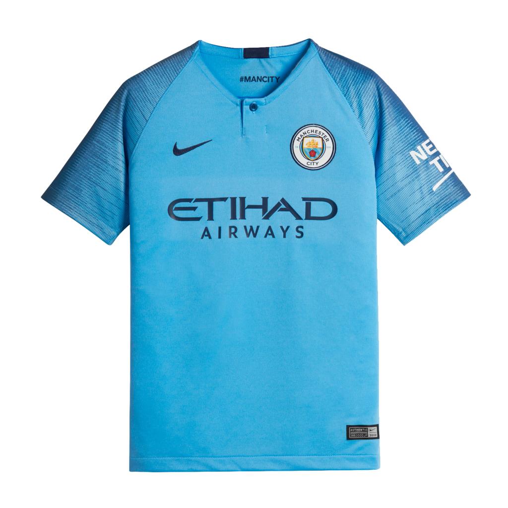 b5bbcc2da Nike Junior Manchester City FC Home Football Shirt 2018 19