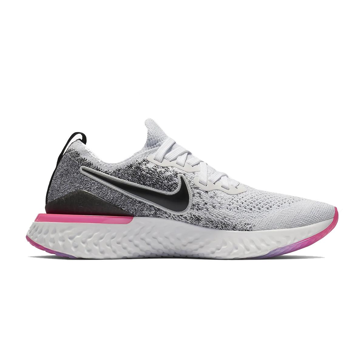 d2151d63789ae Nike Women's Epic React Flyknit 2 Running Shoe - White Black ...
