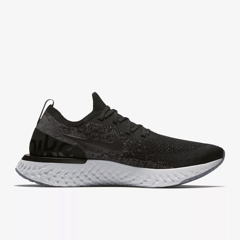 Nike Men s Epic React Flyknit Running Shoe- Black  18ea9bcecd