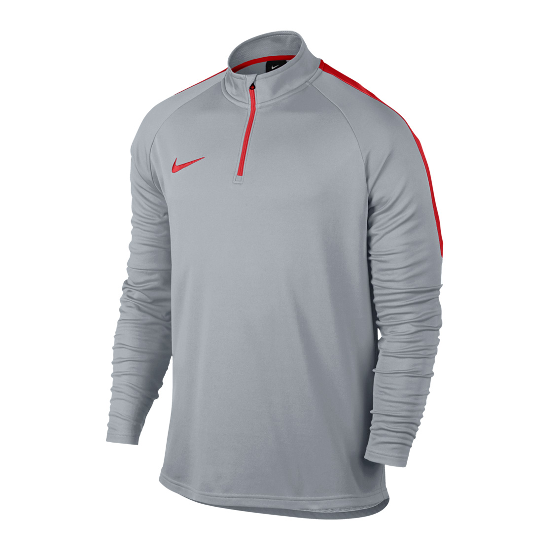 more photos 2b723 abdb4 Nike Mens Dry Academy 1 4 Zip Football Drill Top Wolf Grey
