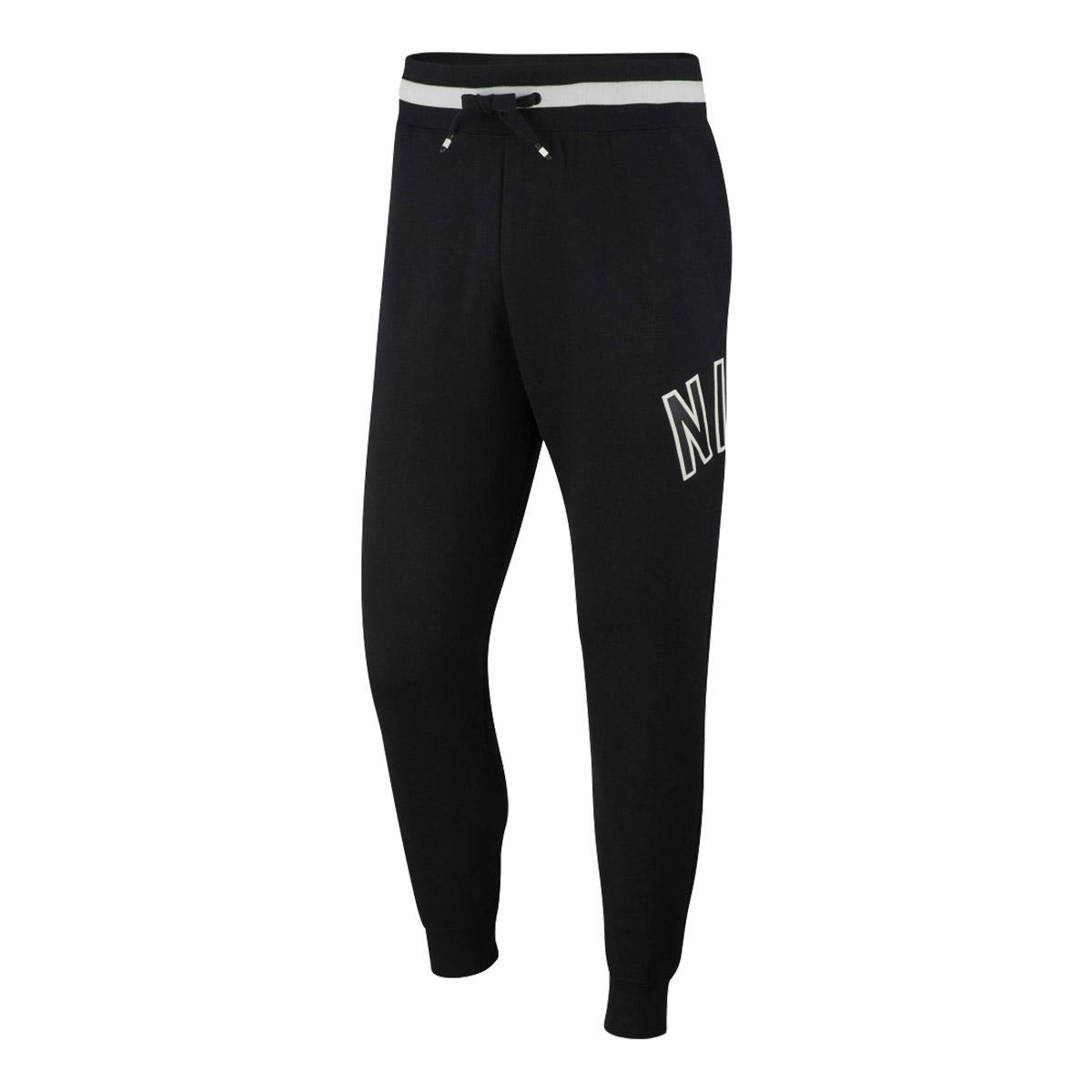 pretty nice 45e2f 2ead0 Nike Mens Air Fleece Joggers Black