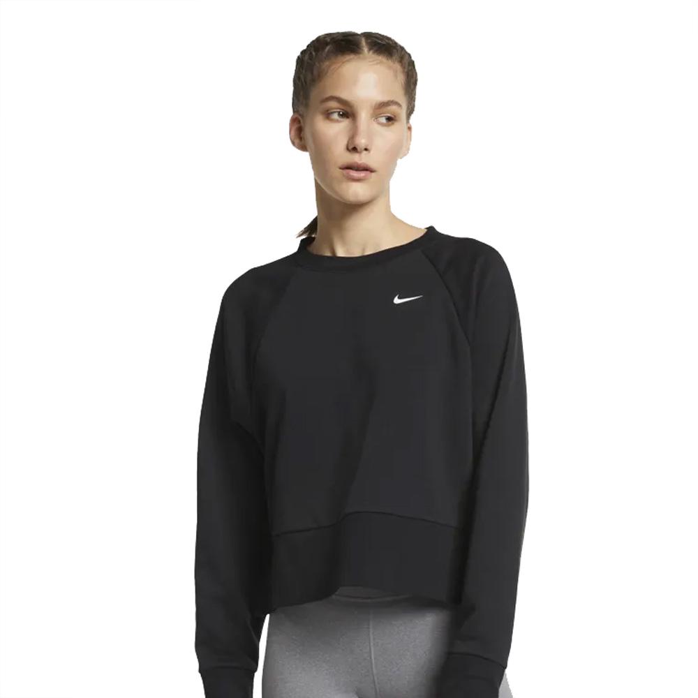 adf6e534da5b6 Nike Women's Dri-FIT Long Sleeve Workout Top - Black | Women's ...