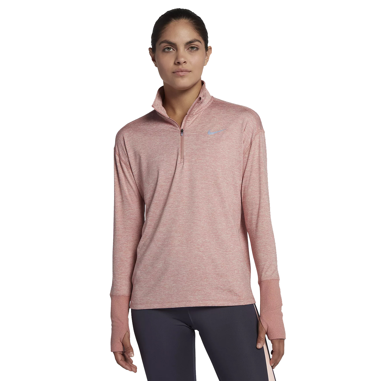 Nike Women s Element Half-Zip Running Top- Rust Pink  9514fbaa1597