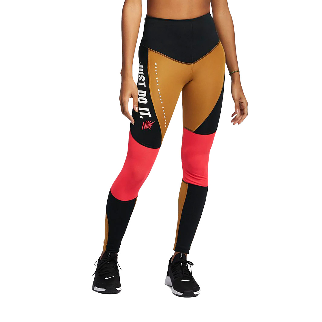 d1ba56eac4997 Nike Women's Power Graphic Fitness Tights - Wheat Black | Womens ...