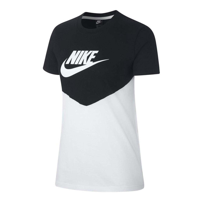 b61cca96 Nike Women's Heritage Vintage Short Sleeve T-Shirt - Black/White ...