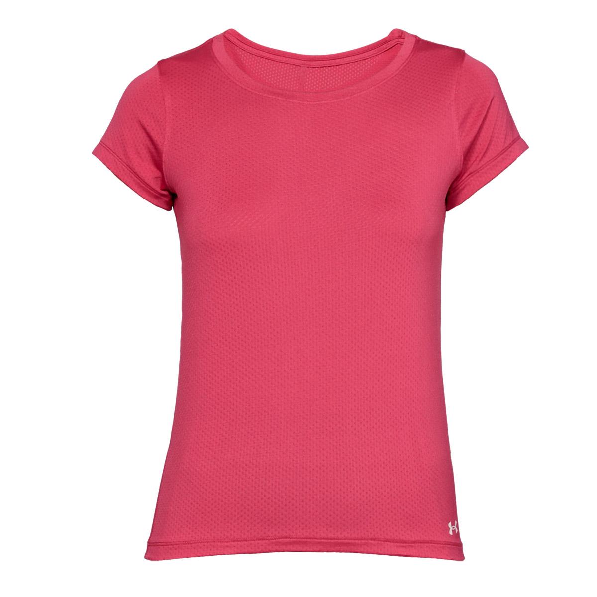 8d478f9e Under Armour Women's HeatGear Short Sleeve T-Shirt - Impulse Pink ...