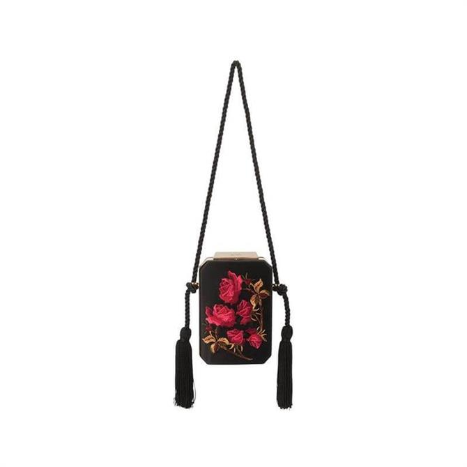 Olga Berg Eve Embroidered Shoulder Bag