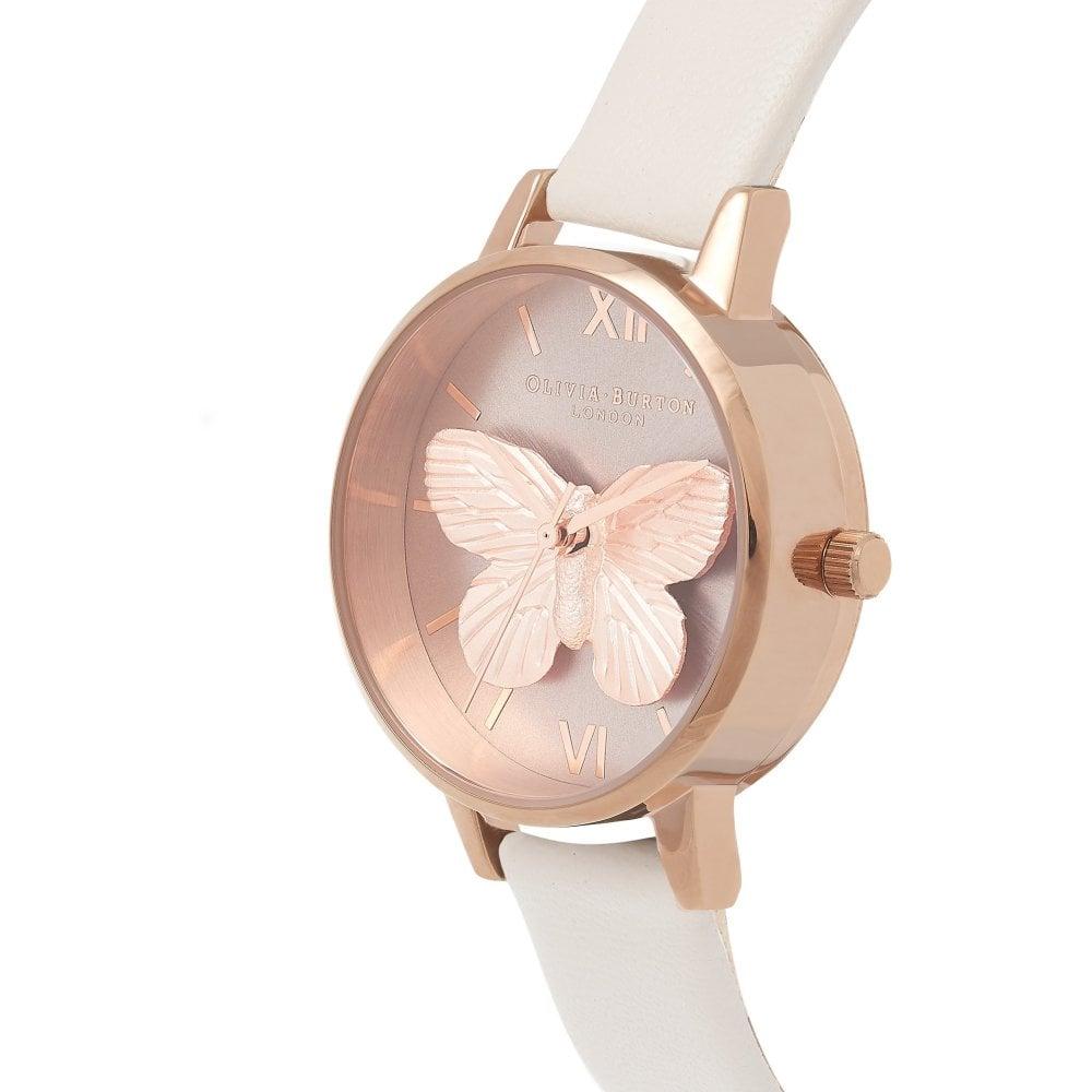98d95e974ae2 Olivia Burton 3D Butterfly Blush   Rose Gold Watch