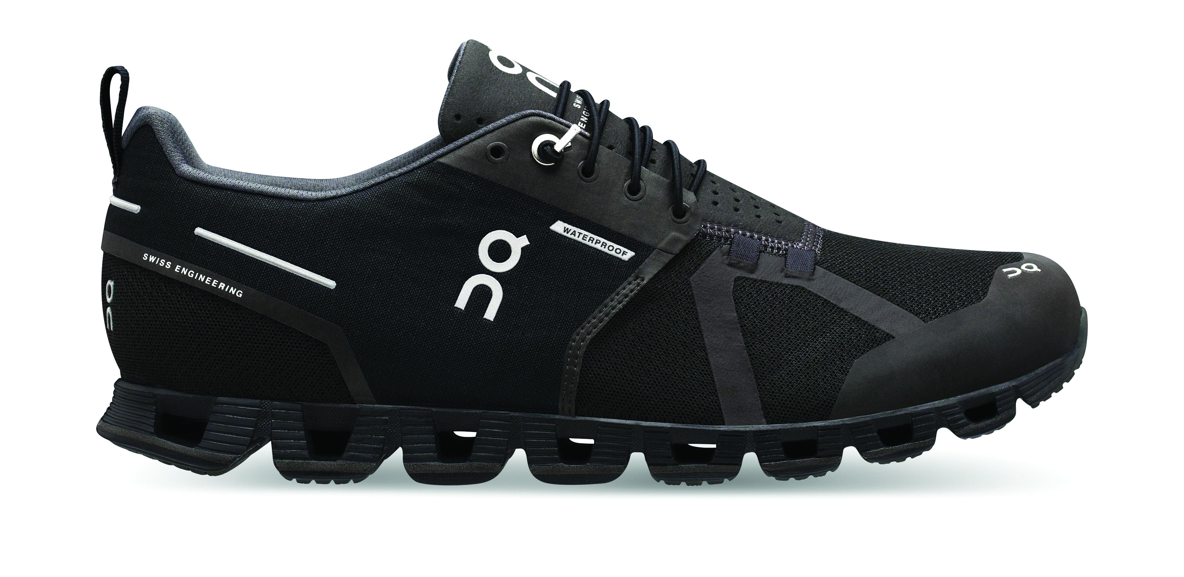 d1f1b0b0550 On Women s The Cloud Waterproof Running Shoes- Black