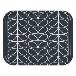 Orla Kiely Medium Linear Stem Tray: Slate