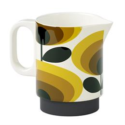 Orla Kiely 70's Oval Flower Milk Jug: Yellow