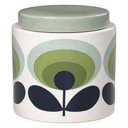 Orla Kiely 70's Oval Flower Storage Jar: 1 Litre