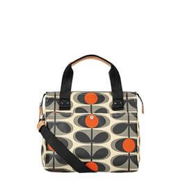 Orla Kiely Laminated Flower Oval Messenger Bag