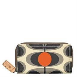 Orla Kiely Laminated Flower Oval Big Zip Wallet