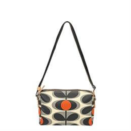 Orla Kiely Laminated Flower Oval Small Cross Body Bag
