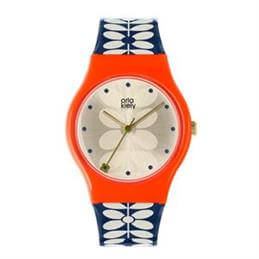 Orla Kiely Gold & Navy Bobby Watch