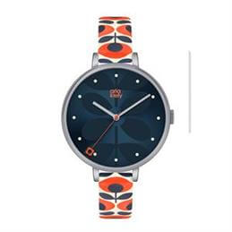 Orla Kiely Ivy Navy Stem Print Dial Watch