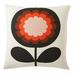 Orla Kiely 70's Frilly Flower Cushion: Persimmon