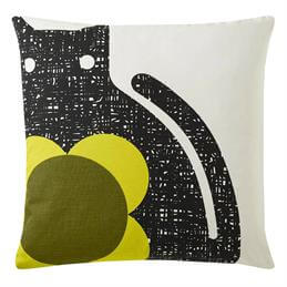 Orla Kiely Poppy Cat Cushion: Apple