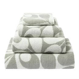 Orla Kiely Acorn Cup Towels: Light Granite