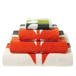 Orla Kiely Large Stem Towel: Tomato