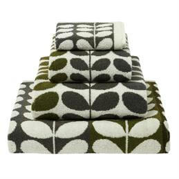 Orla Kiely Multi Stem Towel: Moss