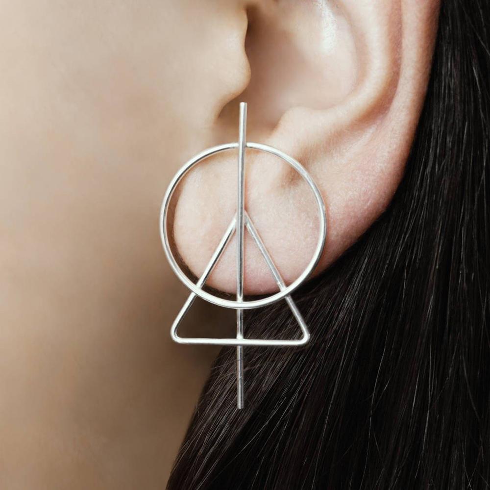 246106fcb Otis Jaxon Triangle Silver Geometric Stud Earrings | Jewellery | Jewellery  | Jarrolds Norwich, Norfolk