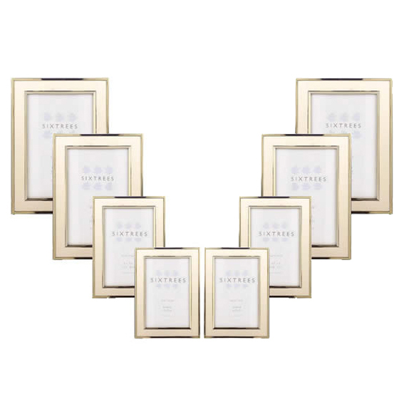 Sixtrees Abbey Gold Photo Frame Photo Picture Frames Photo