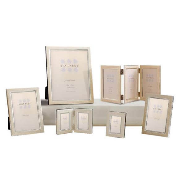 Sixtrees Zurich Silver Plated Photo Frame Photo Picture Frames