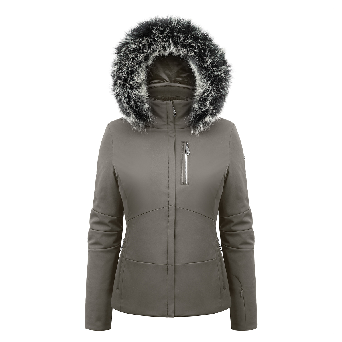 3c1eeee53b Poivre Blanc Women s Stretch Ski Jackets with Faux Fur Trim 18 ...