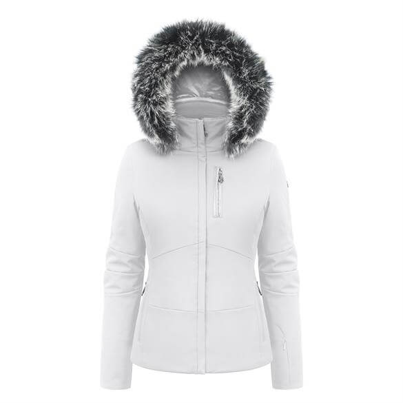Tag  Poivre Blanc Womens Belted Ski Jacket With Faux Fur Hood 6fc4cc951