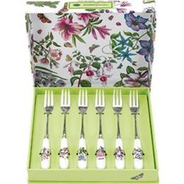Portmeirion Botanic Garden Pastry Forks Set Of 6