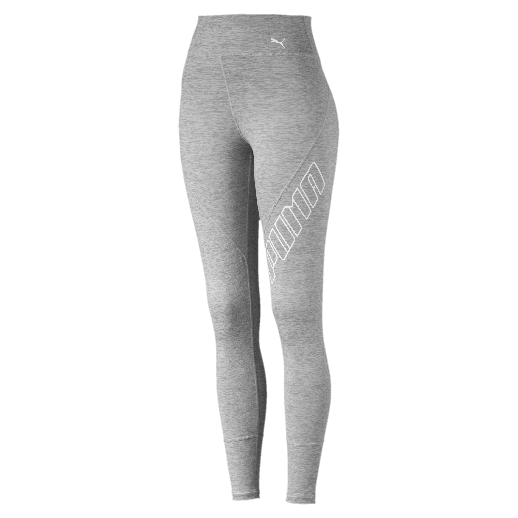 3ec55fef625dc Puma Women's Yogini Logo Fitness Tights - Light Grey | Womens ...