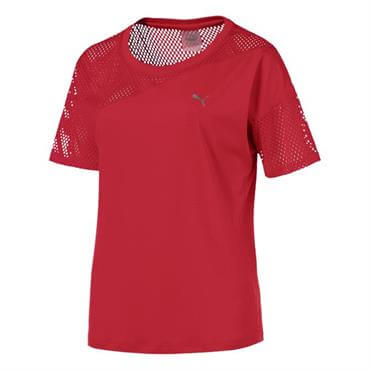 Puma Women s A.C.E Mesh Blocked T-Shirt- Ribbon Red 28f1a2016b7