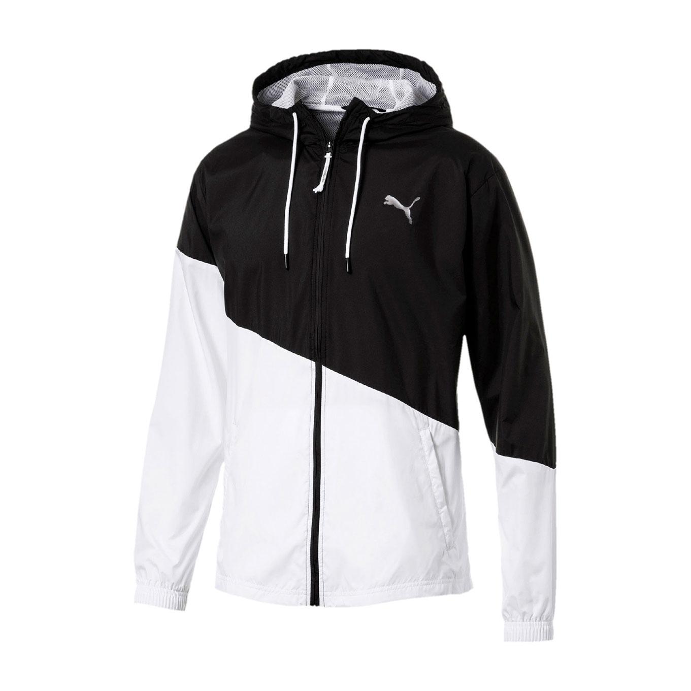 d17548903ea6 Puma Men s A.C.E Windbreak Training Jacket - Black White