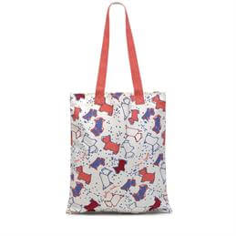 Radley Speckle Dog Medium Tote Bag with Orange Straps