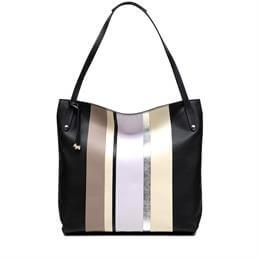Radley Penhurst Large Striped Zip Top Shoulder Bag