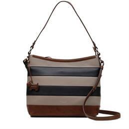 Radley Babington Stripe Mink Medium Zip Top Multiway Bag