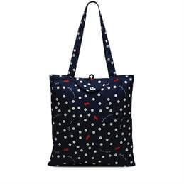Radley Ink Blue Vintage Dog Foldaway Tote Bag