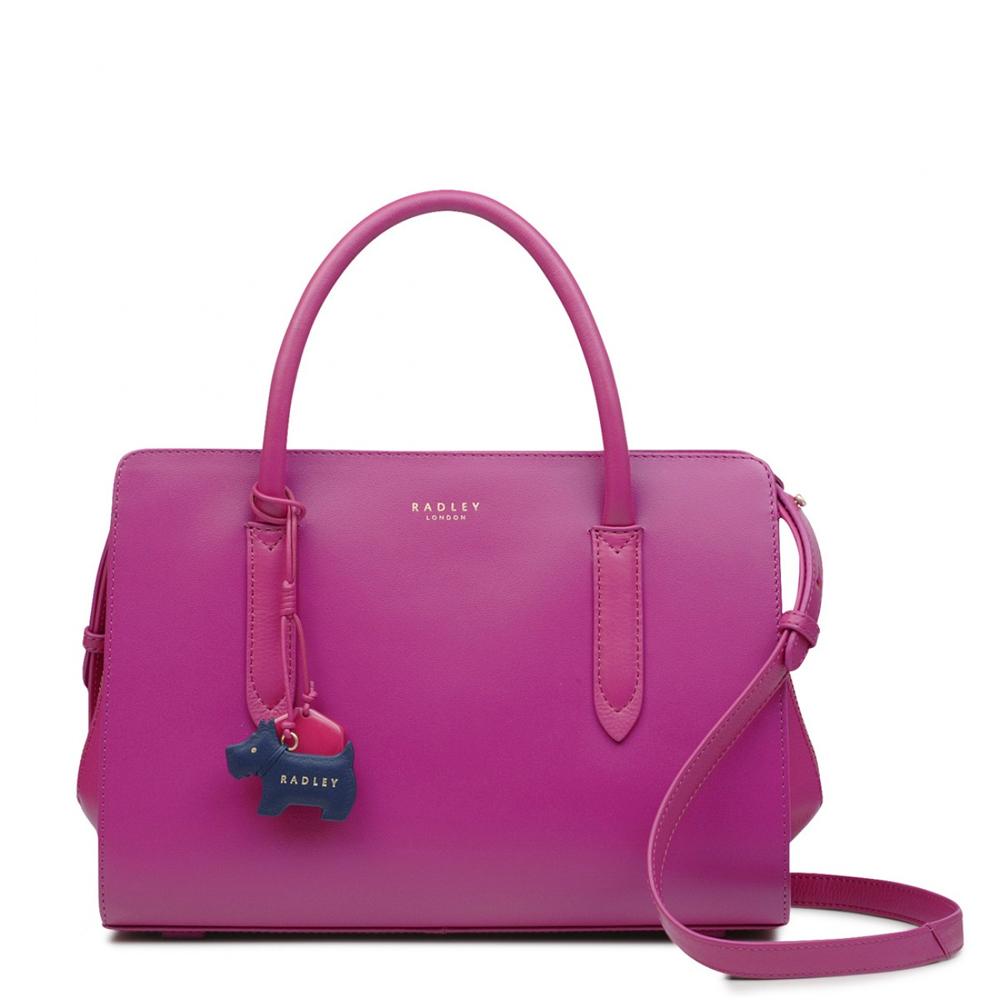 10585b6b91eb Radley Liverpool Street Fuchsia Pink Medium Zip-Top Multiway Bag ...