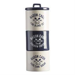 Mason Cash Varsity Stacking Tea, Coffee & Sugar Storage