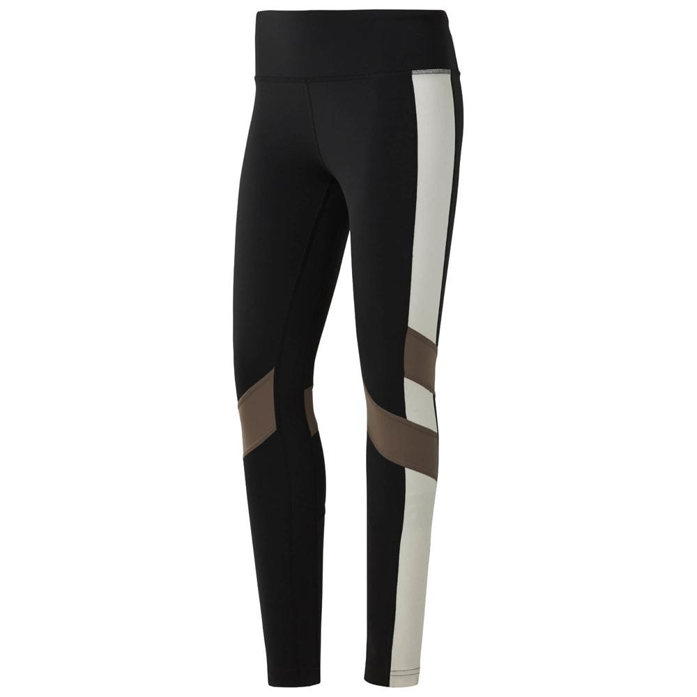 98555614af Reebok Women's Lux Colour Block Leggings- Black | Womens Fitness ...