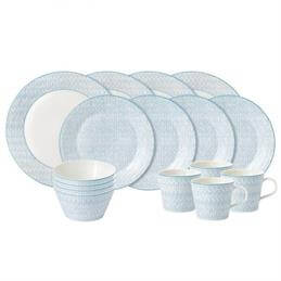 Royal Doulton Pastels Herringbone 16 Piece Dining Set