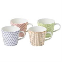 Royal Doulton Pastels Accents Mugs (Set of 4)