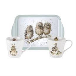Portmeirion Wrendale Mug & Tray Set