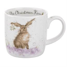 Royal Worcester Wrendale Christmas Kiss Mug
